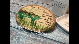 Moving Mountains stamping and wood burning