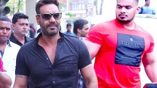 Ajay Devgan's Macho ENTRY With Bodyguards At Raid Movie Trailer Launch