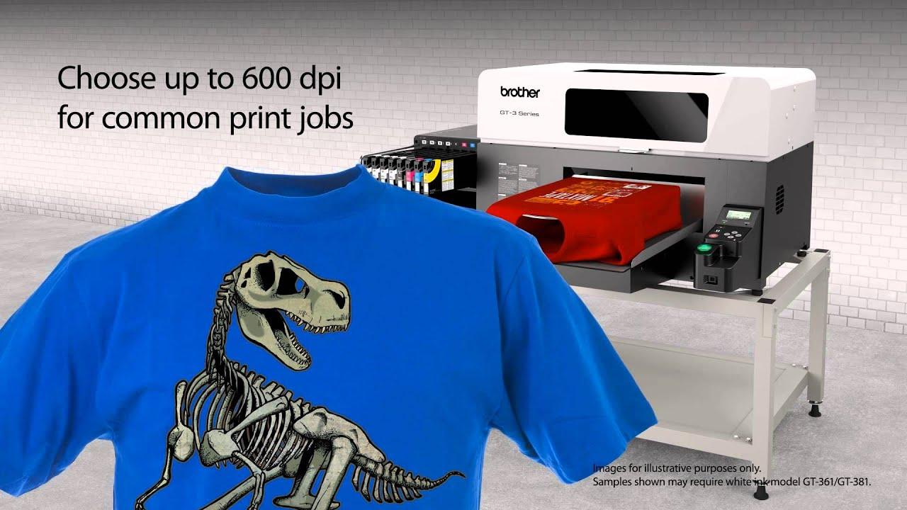 e97e62929116a Impresora digital textil Brother GT-381 - YouTube