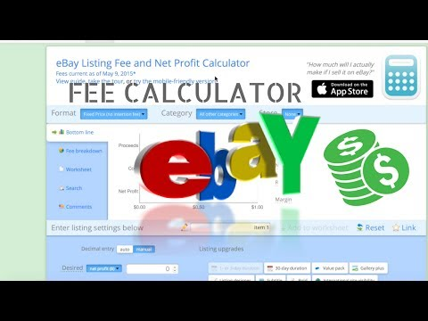 Calculating Ebay Paypal Seller Fees Youtube