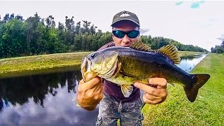 Freshwater - Fishing for Bass Spinning # 03 - West Palm Beach Florida - HD # 41