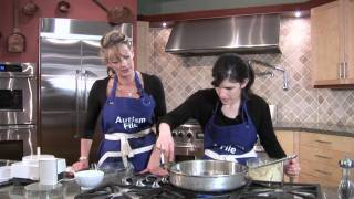 Julie and Polly Make Chicken Pancakes!!