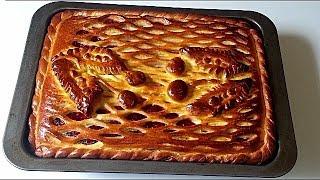 Дрожжевой пирог с вишней.