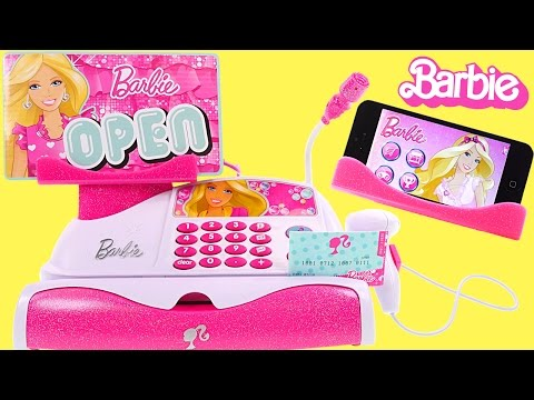 Barbie App-rific Cash REGISTER - 51 Piece Barbie Checkout Toy Unboxing