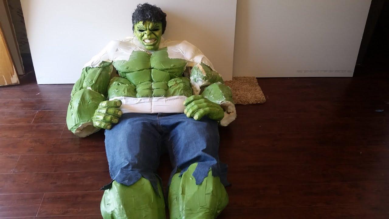 Diy hulk costume hulk costume tutorial part 11 youtube solutioingenieria Image collections