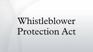 the whistleblowers protection bill The whistleblower protection act is a provision that protects whistleblowers from retaliation by a company or employer for reporting fraudulent activity or corruption.