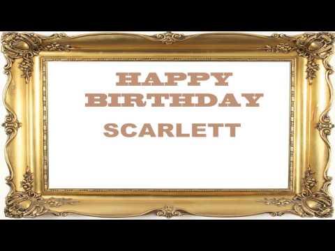 ScarlettBirthday Postcards & Postales - Happy Birthday