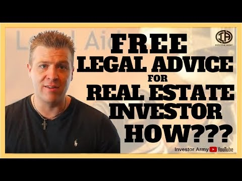 FREE Legal Advice For Real Estate Investors....How???