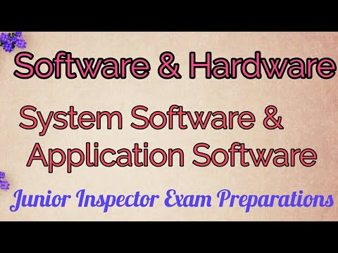 SYSTEM SOFTWARE & APPLICATION SOFTWARE Ll Junior Inspector Exam Preparations
