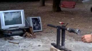 Cañon Casero R-15 (El Regreso, 2010) Dispara Canicas de 25mm Hecho en Mexico (homemade cannon)
