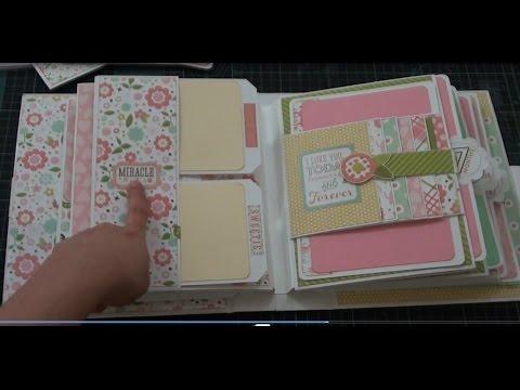 Bundle of joy baby girl mini album youtube - Como hacer un album de fotos ...