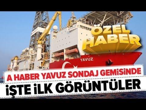 A Haber Yavuz sondaj gemisinde