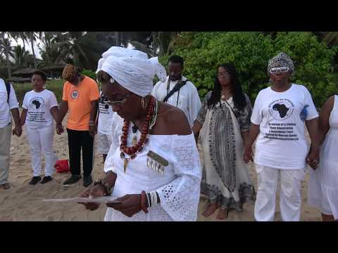 Getting Ready for the Naming Ceremony with IMAHKÜS - Ghana Tour Nov 2017