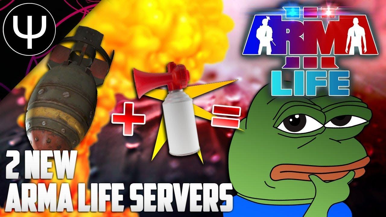 ARMA 3: Life Mod — 2 NEW ARMA Servers ft  NUKES + Air Horns!