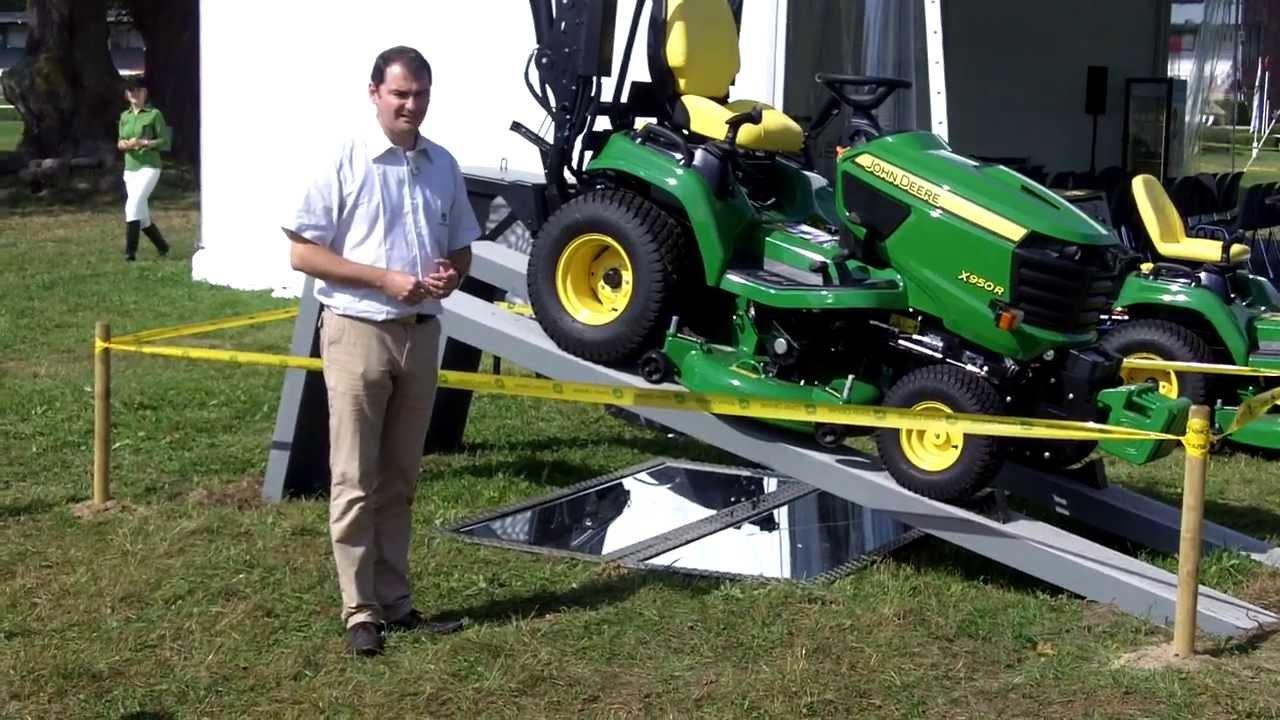 John deere pr sentation du nouveau tracteur tondeuse - Tracteur tondeuse john deere occasion ...