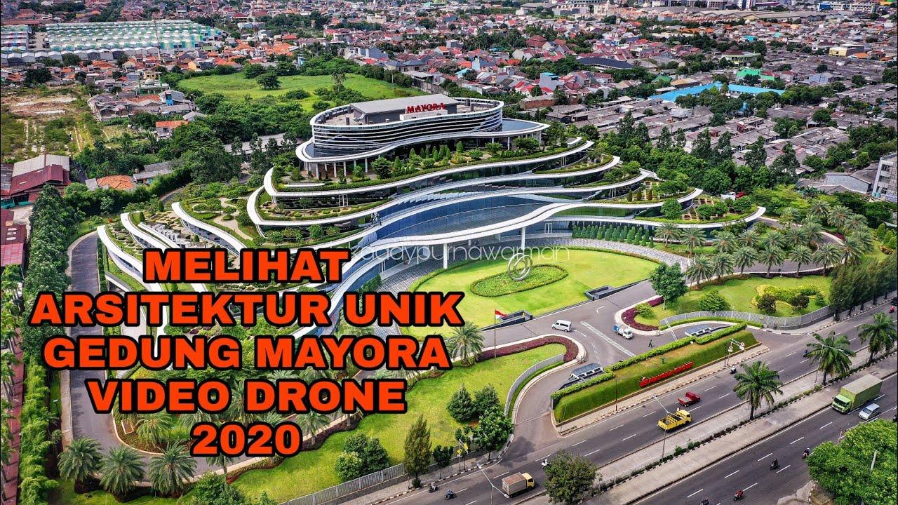 Download VIDEO UDARA ARSITEKTUR UNIK GEDUNG MAYORA | JAKARTA DRONE 2020