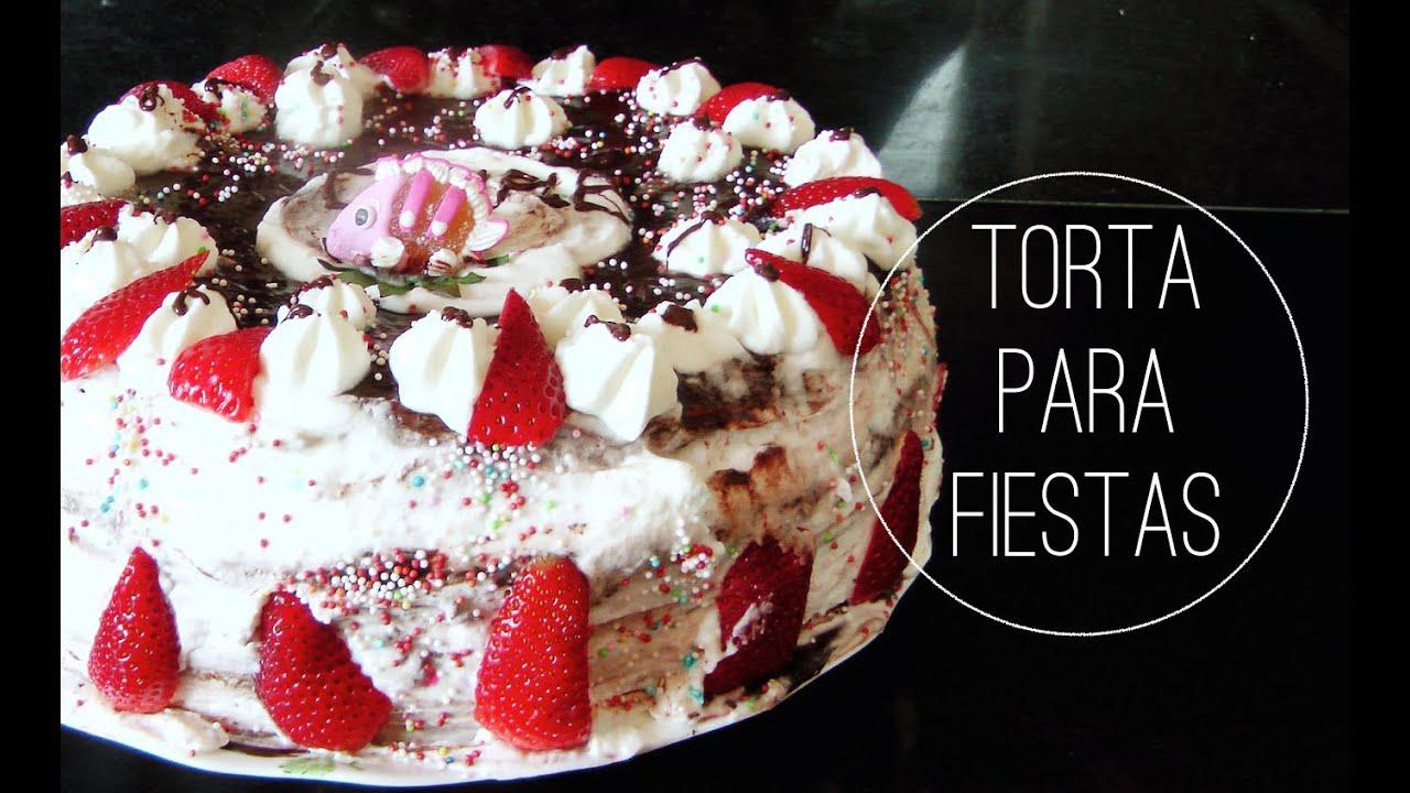 cmo hacer torta tarta pastel cumpleaos fiestas para festejar feliz receta con chantilly youtube