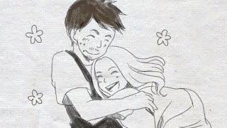 結婚式 新郎から新婦へサプライズ 手書きのパラパラ漫画