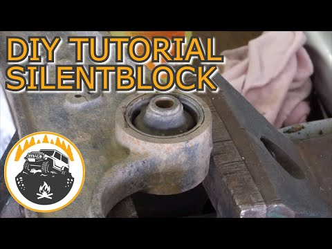 ENG SUB How to replace arm bushings without hydraulic press – Suzuki Jimny DIY