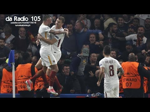 Radio 105 - Chelsea-Roma 3-3 - Radiocronaca di Niccolò Ceccarini & Marco Delvecchio (18/10/2017)