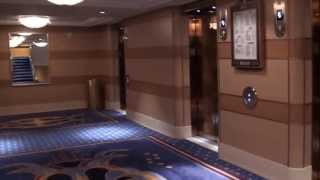 Disney Dream Cruise Ship - Going From Deck 7 To Deck 12
