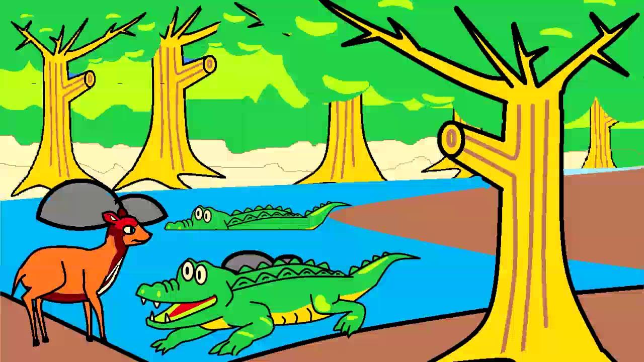 Cerita Kancil Dan Buaya Animasi Anak Dongeng Anak Youtube