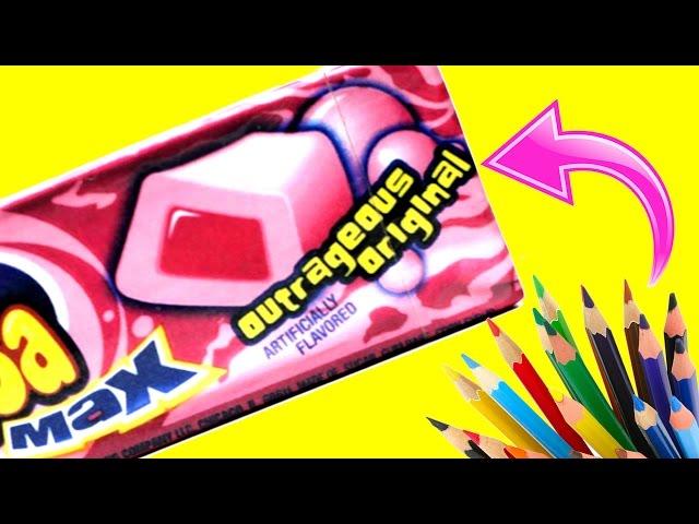 5 Easy DIY Candy Pencil Cases & Makeup Bags (Bubble Gum, Gummy...) Cool DIYs