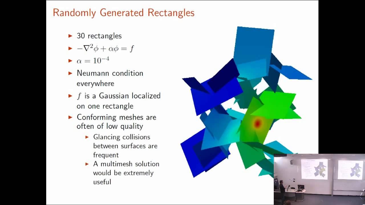David Bernstein: Non-Manifold Manifold Simulations Using FEniCS