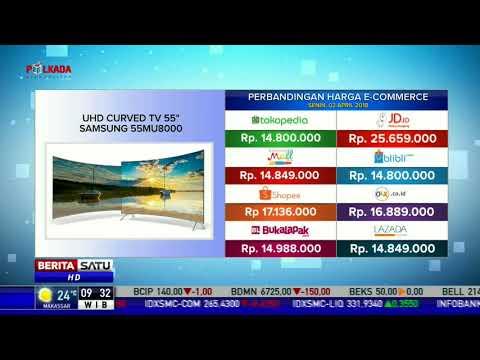 Perbandingan Harga E-Commerce: UHD Curved TV 55 Samsung 55MU8000