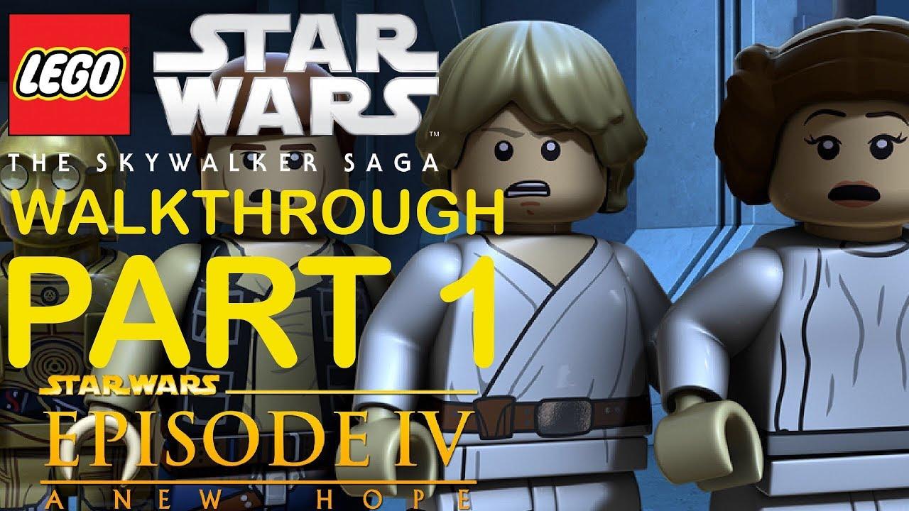 Lego Star Wars The Skywalker Saga Gameplay Walkthrough Part 1 A New Hope Youtube