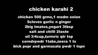 Delicious Chicken Karahi recipe for karahi lover