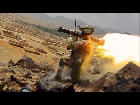 Soldiers Fire Rockets and Machine Guns at Taliban In Charkh