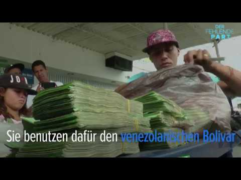 Eine Tasche aus Geld – so machen venezolanische Flüchtlinge Geld