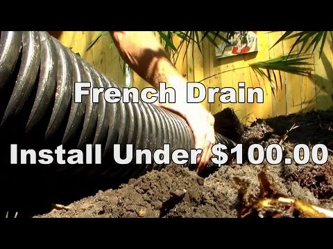 Do It Yourself French Drain less than $100
