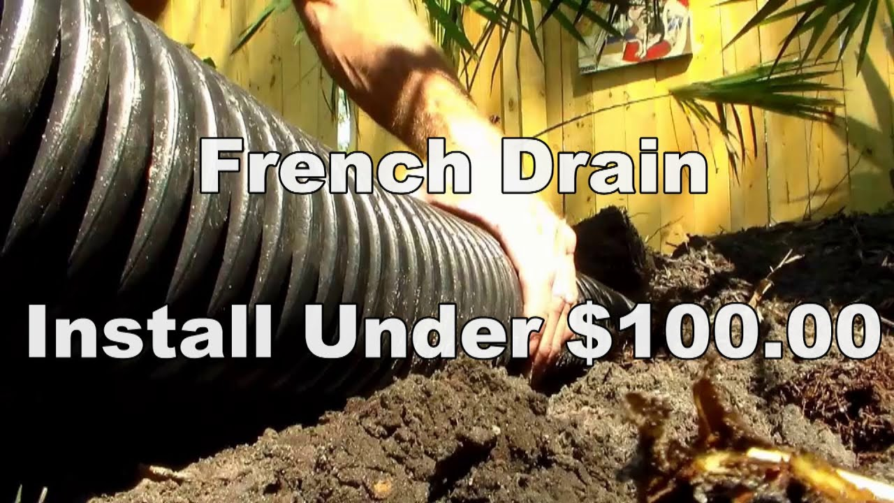 Do it yourself french drain less than 100 youtube do it yourself french drain less than 100 solutioingenieria Images