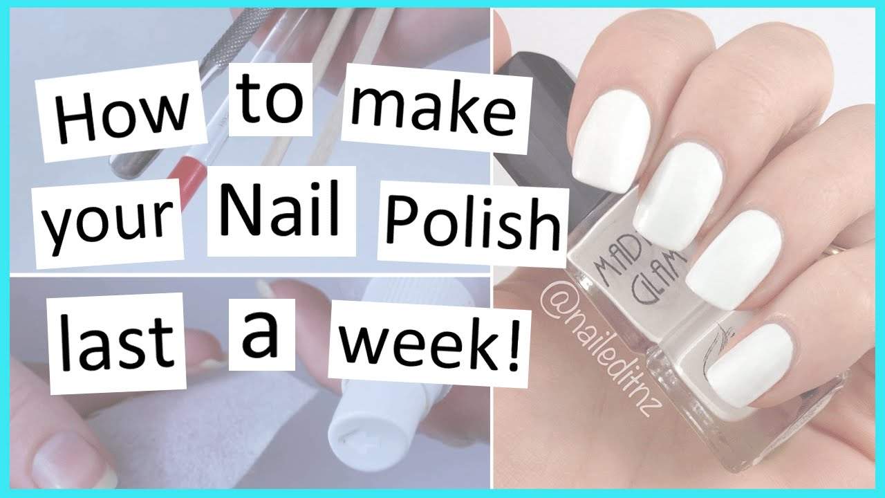 How to Make Your Nail Polish Last Longer! - YouTube
