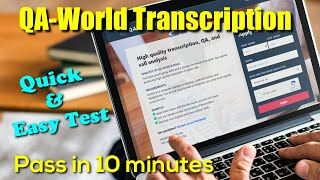 QA-World Transcription Jobs | How To Pass Transcription Test | Full Tutorial