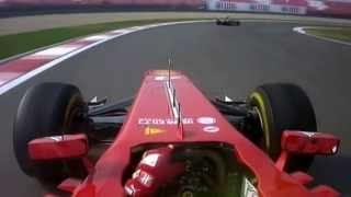 On board Felipe Massa sorpasso su Lewis Hmilton Gp China F1 2013