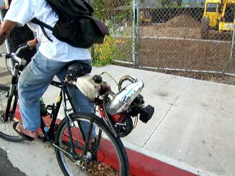 090529 chainsaw powered bicycle youtube 090529 chainsaw powered bicycle greentooth Images