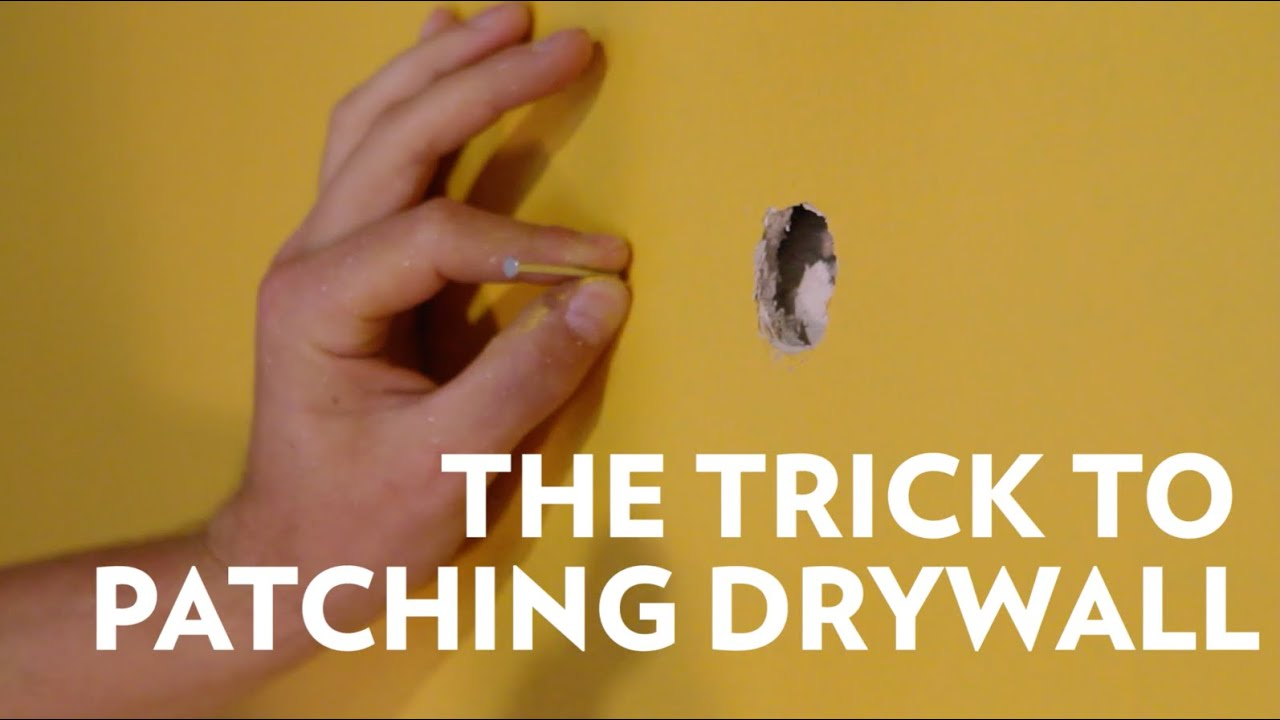 How to patch a hole in drywall and texture walls
