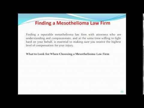 Finding a Mesothelioma Law Firm