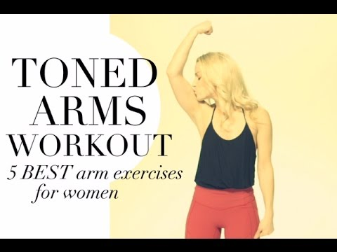 TONED ARMS WORKOUT: 5 BEST ARM EXERCISES for WOMEN