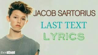 Jacob Sartorius - Last Text [Lyrics]