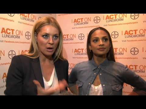 Alesha Dixon and Tess Daly at Crufts