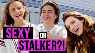 sexy or stalker? w nash grier bella thorne and the cast of you get me movie