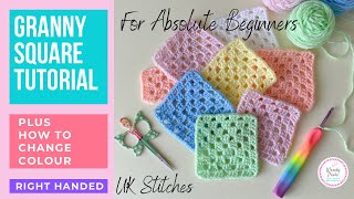 How to Crochet a Granny Square for Beginners | Single Colour Granny Square | Wendy Poole