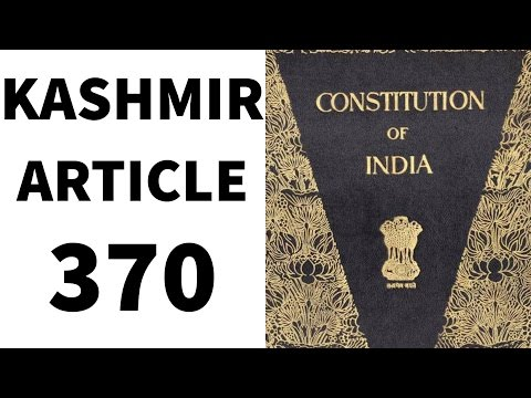Article 370 - Kashmir -  Legal GK and Legal Aptitude  - CLAT / UPSC/ IAS/ State PCS