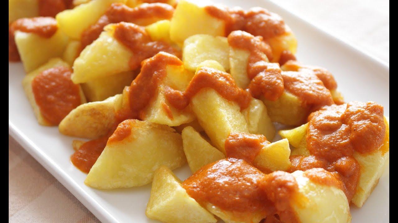 Patatas Bravas Receta Tradicional - YouTube