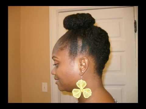 natural hair style creative twist