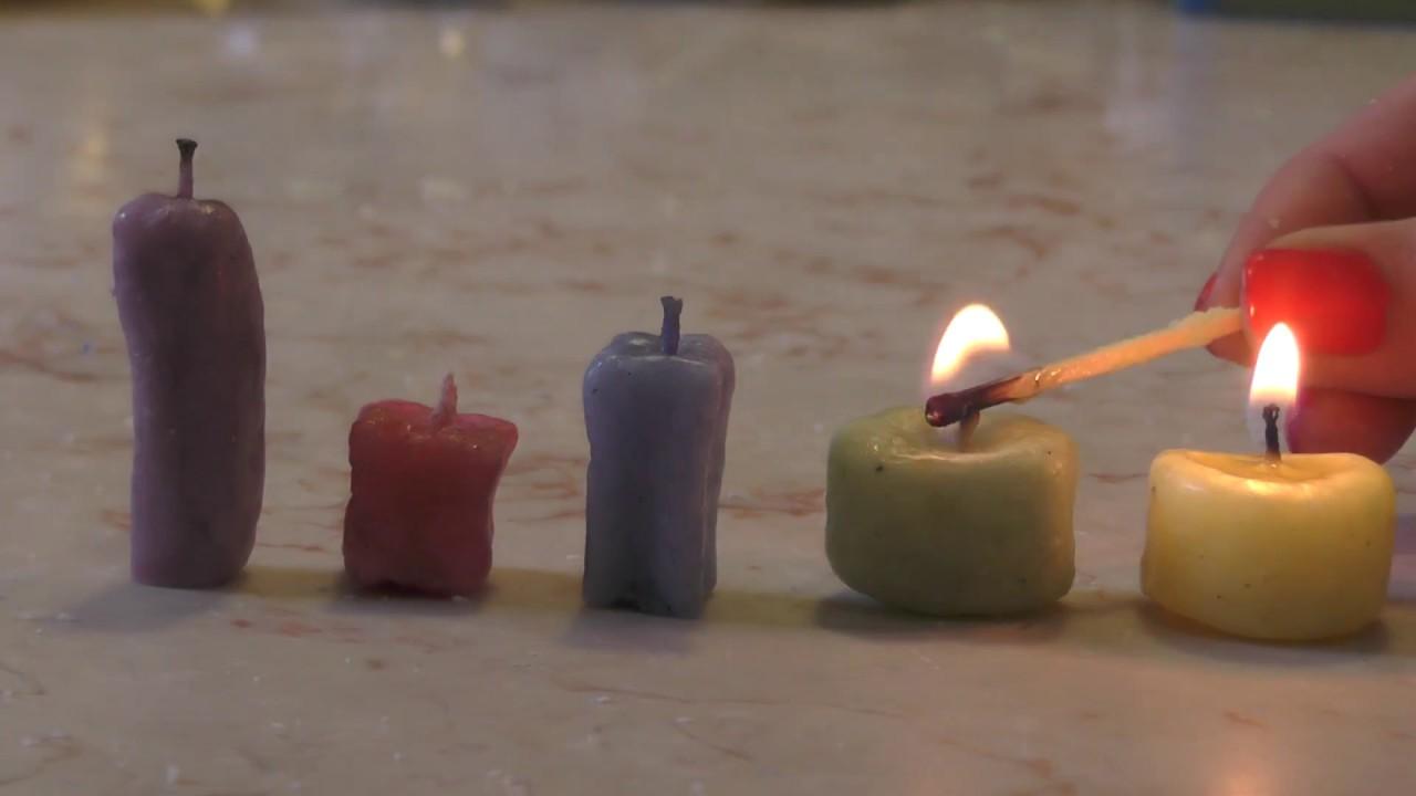 סרטון DIY לחנוכה איך מכינים נרות+טריק מגניב ;)